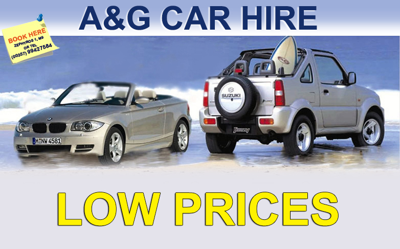 a&g rent a car low prices